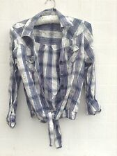 Check Shirt Blue Cream George Size 8