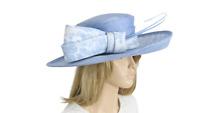 John Charles 26222 Sky Blue Mother of the Bride Bridal Wedding Formal Hat £450