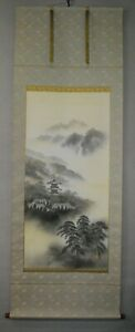 HANGING SCROLL KAKEJIKU | Landscape : Pagoda Painting by Keiichirou 慶一郎 #754