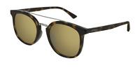 Gucci GG0403SA 002 Sunglasses Havana Brown Frame Gold Mirrored Lenses 52mm