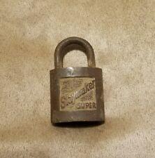 Antique Vintage Slaymaker Super Pad Lock padlock