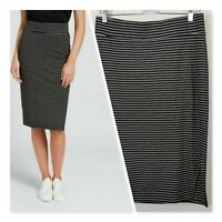 [ SEED HERITAGE ] Womens Longline Ponte Striped Skirt  | Size M or AU 12 / US 8