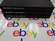 Books Of Blood IV,V & VI by Clive Barker (USA,HC) Scream Press- Limited/Signed!!