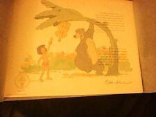 JUNGLE BOOK LITHOGRAPH WALT DISNEY 1993 PAIR PRINTS OLLIE JOHNSTON FRANK THOMAS