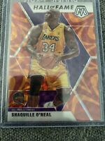 2019/20 Mosaic PRIZM Orange Reactive Hall of Fame SHAQUILLE O'NEAL SHAQ Lakers