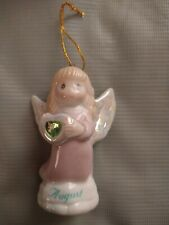Precious Moments August Angle Christmas Ornament new