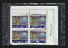 Canada — Set of 4 Corner Blocks — 1977 Christmas Hunters Following Star #741 MNH