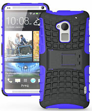 Púrpura Granada Resistente Funda De TPU Rígida Soporte Para HTC One Max T6 803s