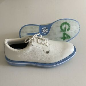 G/Fore Golf NWOB Mens 8 White Leather Golf Shoes NEW