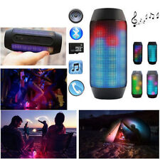 New Portable PULSE LED Light Stereo Wireless Bluetooth Speaker WithFM For iphone