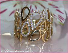 EXTRAVAGANTES DESIGN: Edler Brillanten Ring, 0,45 cts. w-si2, GG-585, 2.600,00€