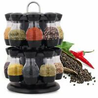 Jar Rotating Spice Rack Stand Kitchen Seasoning Holder Stainless Steel Stand AU