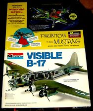 Monogram ~ VISIBLE B-17 and Phantom P-51 MUSTANG ~ BIG 1/48 Scale