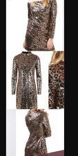 Topshop Animal Print Sequin BodyCon Dress U.K. 6 New