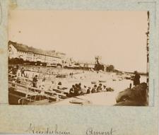 Allemagne, Rüdesheim am Rhein, en amont  vintage albumen print,Photos provenan