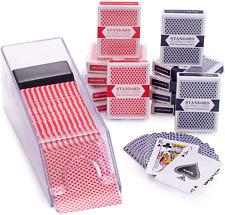 Basics Set Includes Blackjack Dealer Shoe Decks of Plastic Coated Playing Cards