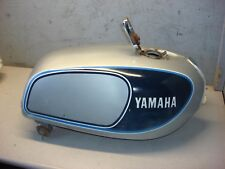 YAMAHA FUEL GAS PETROL TANK XS 750 1977-1979 CRYSTAL SILVER VINTAGE CAFE TRIPLE