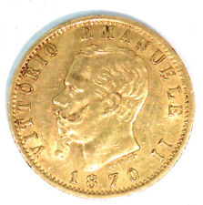ITALIE VICTOR EMMANUEL II 1861-1878 - 20 LIRE OR 1870 ROME