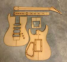 Dinky Style Guitar Building Templates with Original Floyd Rose Routing-24 Fret