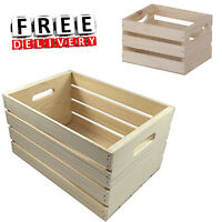 Crate Storage Wood Craft Bins Milk Classic Commercial Grade Storage Organizer