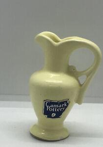 "Vintage Yellow Miniature Tiny  Camark Pottery Pitcher 3"" Tall"