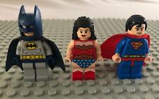 LEGO Minifigure Marvel DC Superheros w/ Blue Batman, Wonder woman & Superman