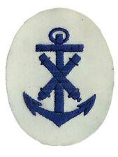 KRIEGSMARINE Ordnance NCO Comercio INSIGNIA - Ww2 Repro Parche azul marino