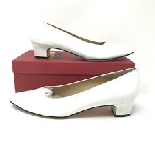 41d59779f5c Vaneli Womens Size 9 Narrow Astyr White Patent Leather Low Heel Dress Pump