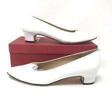 8ecc06b244c Vaneli Womens Size 9 Narrow Astyr White Patent Leather Low Heel Dress Pump