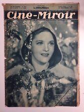 CINE MIROIR N°665 31 DECEMBRE 1937 COUV MARIE GLORY