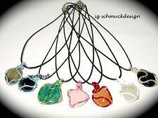 Handgefertigte Unisex Halsketten & Anhänger mit Bewusstseins echten Edelsteinen
