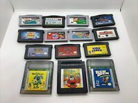 Nintendo Game Boy Advance Kids LOT 14 VIDEO GAMES GBA & Color Cars Elmo Monsters