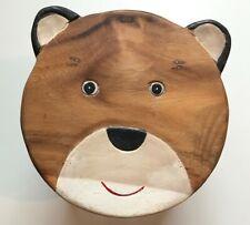 Childrens/Childs/Kids Wooden Stool - Boy Bear