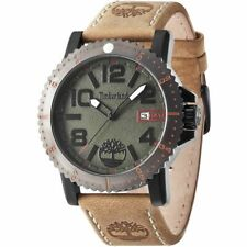 Timberland Hyland 14479JSBU/19 Men's Watch With Beige Leather Strap