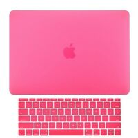 2in1 Hot Pink Matte Hard Case+Keyboard Skin for Macbook Pro 13 WITHOUT Touch Bar