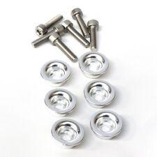 Ducati scodellini premi molla alluminio lucido - spring caps with screws silver
