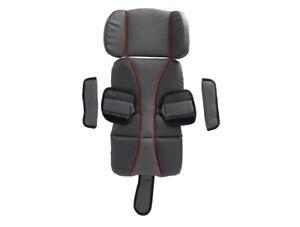 Burley Sitzpolster Set Premium grau rot Sitzstütze Fahrrad Kinderanhänger NEU
