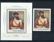Art Paintings Titian Romania MNH stamps set
