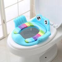 Children Kids Potty Training Seat Baby Toddler Handle Toilet Soft Pad