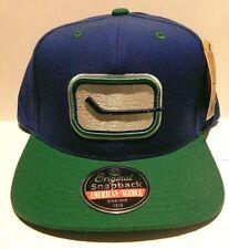 AMERICAN NEEDLE Vintage Vancouver Canucks Snapback Baseball Hat Cap NHL NEW