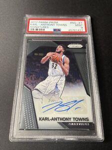 Karl Anthony Towns - 2017 Prizm Basketball - Signatures Auto (PSA 9) POP2/4H