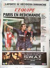 L'Equipe Journal 3/12/2003; PSG/ Laporte/ Bergeaud/ Handball Féminin/ Joyon