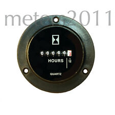 Round Hour Meter Surface or behind panel mnt  6-80 V DC