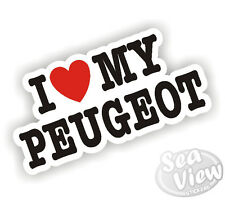 I Heart Love My Peugeot Pug 106 206 306 307 207 308 Boxer Car Van Sticker Decal