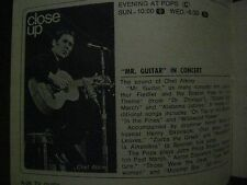 1970 TV Guide(BOB  MACKIE/SUE  BERNARD/RAY  AGHAYAN/JOHNNY  CARSON/CHET  ATKINS)
