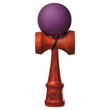 Kendama USA Kaizen Padauk Wood Kendama - Silk Paint - Grape (purple)