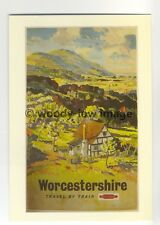 ad2998 - BR - Worcestershire, Valley with Village Scene   - Postcard