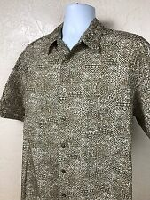 Cooke Street Honolulu 100% Cotton Short Sleeve Hawaiian Shirt Men Sz LG XL EUC