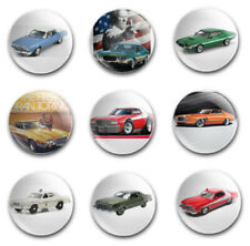 25mm  BUTTON BADGES X9 FEATURING THE FORD GRAN TORINO