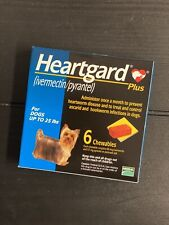 New listing Bnib 6 Heart gard Plus Tablets for Dogs Up to 25lbs